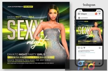 Glow Party Flyer Template 4519260 7