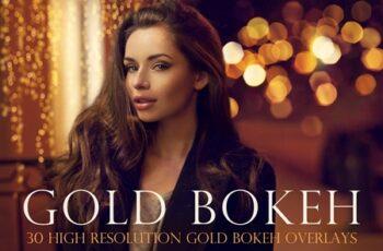 Gold bokeh overlays 4451375 4