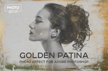 Golden Patina Photo Effect 4415297 12