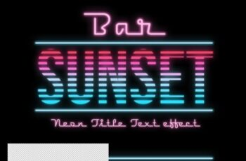 Sunset Neon Lines Text Effect Mockup 320384300 8