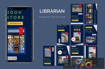 Librarian - Instagram Story Pack 8BRDWPG 3