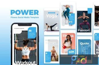 Power - Fitness Instagram Story Template WMSB4MF 3