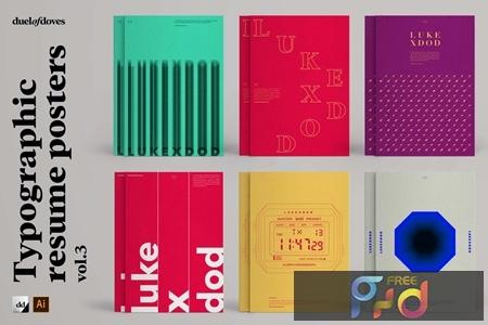 Typographic resume posters - vol. 3 DX8QNWT 1