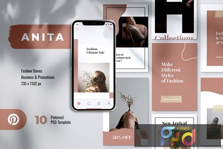 ANITA Fashion Business Pinterest Template MMGH7BS 1