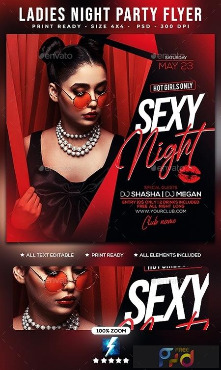 Ladies Night Party Flyer 25606440 1