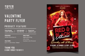 VALENTINE PARTY FLYER 4546857 7