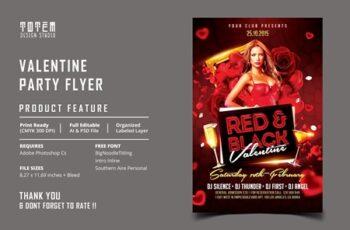 VALENTINE PARTY FLYER 4546857 5