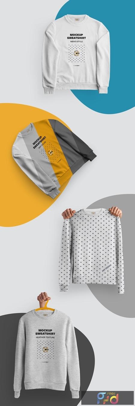 4 Mockups of Isolated Sweatshirts 321129201 1