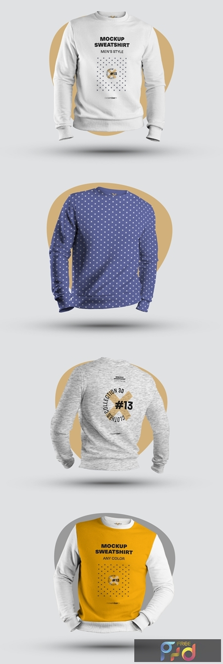 4 Mockups of Mens 3D Sweatshirts 321128151 1