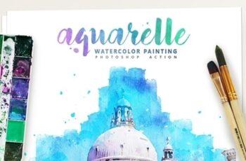 Aquarelle - Watercolor Painting Photoshop Action 25391242 5