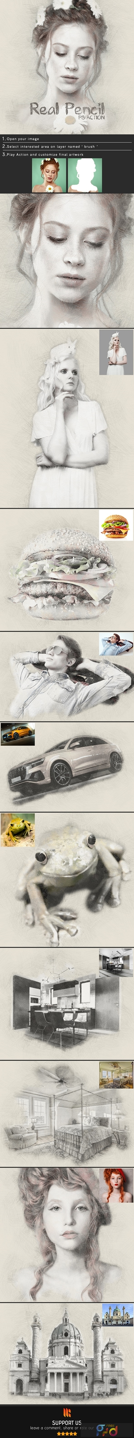 Real Pencil Photoshop Action 24968103 1