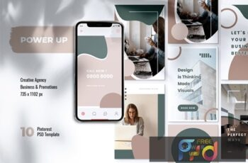POWER UP Creative Agency Pinterest Template SU9XTVU 6
