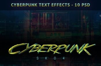 Cyberpunk Text Effects - 10 PSD 22323430 5