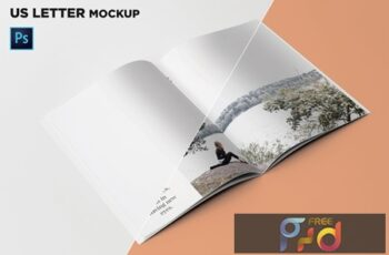US Letter Brochure Mockup 45 Degree ZM2ASQY 4