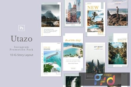 Utazo - Instagram Story Pack 5E5LF75 1
