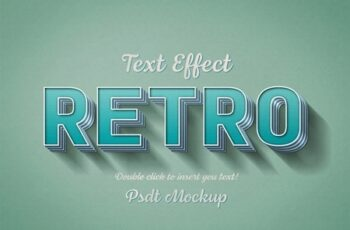 Teal Striped Retro-Style Text Effect 321293346