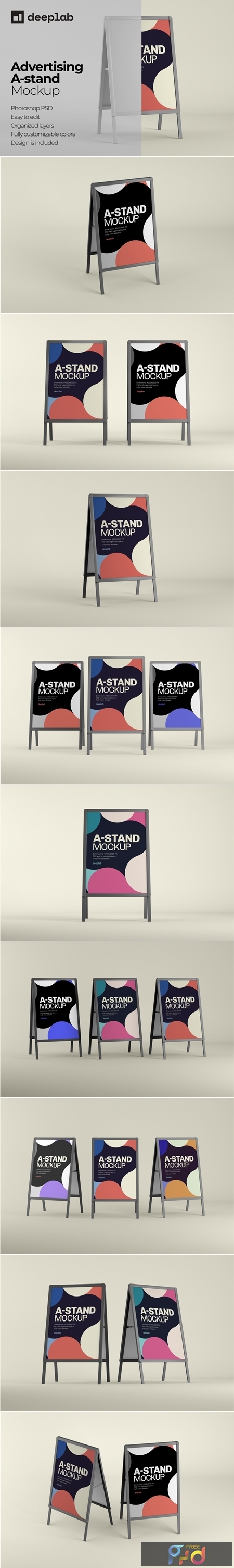 Advertising A-Stand Mockup Set 4430491 1