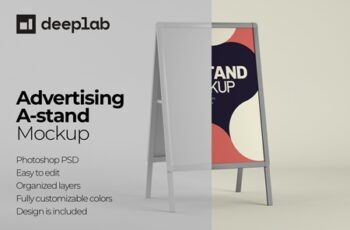 Advertising A-Stand Mockup Set 4430491 5