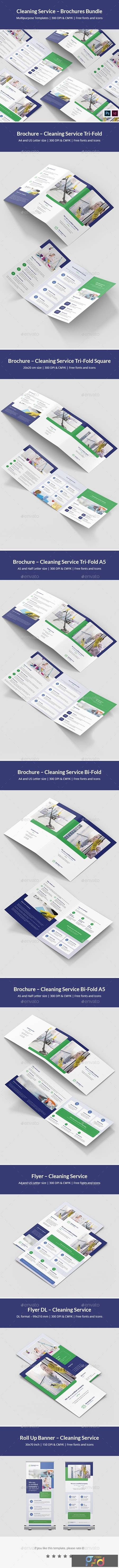Cleaning Service – Brochures Bundle Print Templates 8 in 1 25675641 1