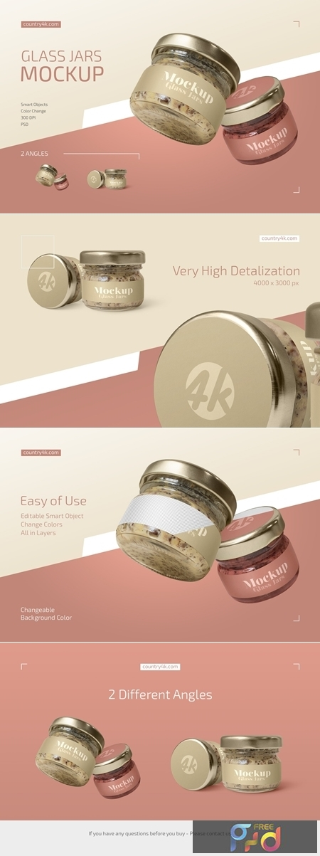 Glass Jars Mockup Set 4441430 1
