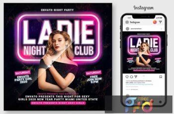 Ladies Night Club Flyer 4543726 3