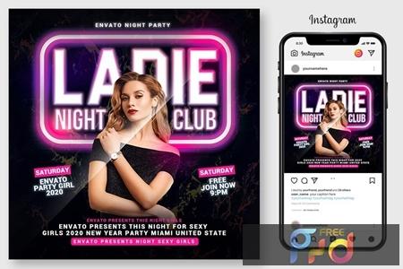 Ladies Night Club Flyer 4543726 1