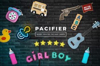 Pacifier - Baby Shop Scene Creator 4379608 3