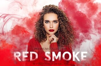 Red Smoke Photoshop Overlays 3894299 3