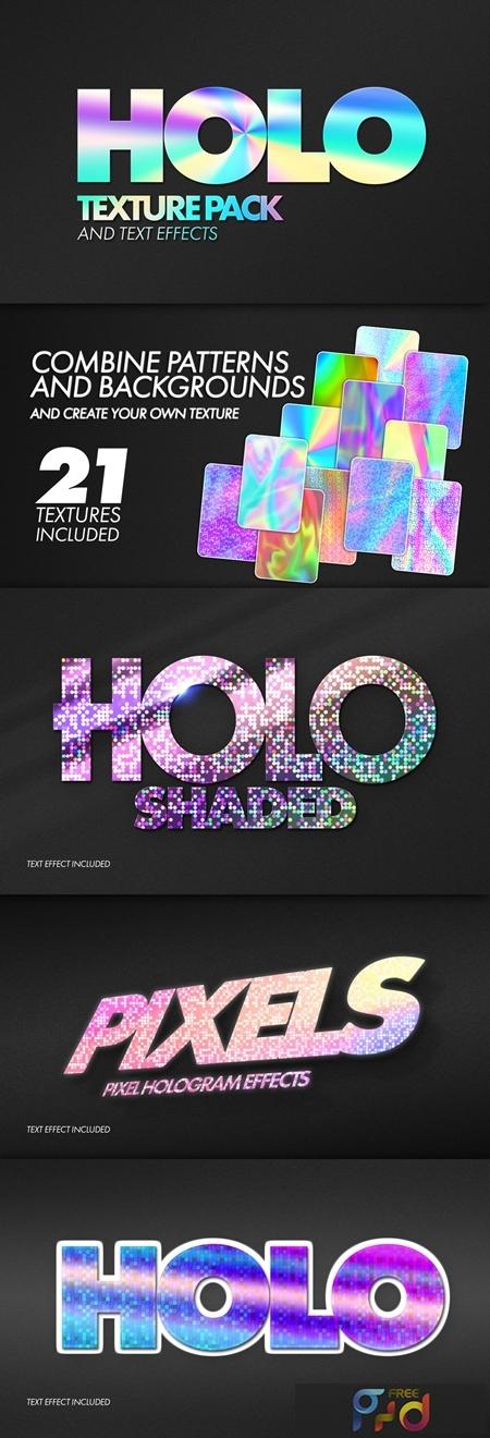 Holographic Texture Text Effect Mockup Bundle 321514539 1