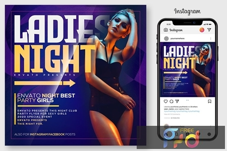 Ladies Night Party Flyer 4519140 1