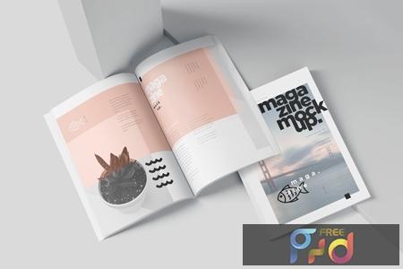 A5 Slim Fashion Magazine Mockup Set LX9UADQ 1