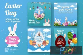 Easter Day R1 Social Media Post Template 4LRWV9R