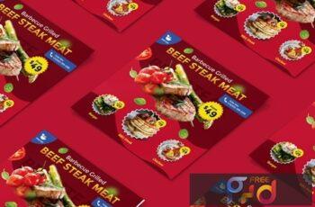 Food, Restaurant Square Brochure XEX48EK 4
