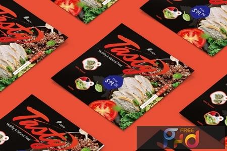 Food, Restaurant Square Brochure 7SYCG4K 1