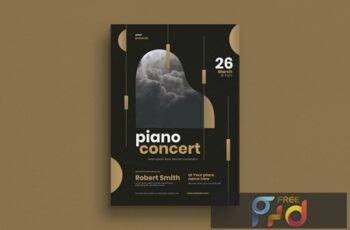Brochure for piano concert events  LG427Z8 2