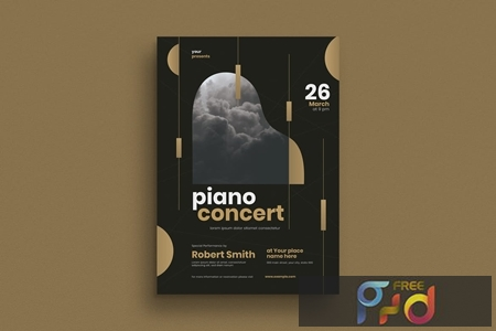 Brochure for piano concert events  LG427Z8 1