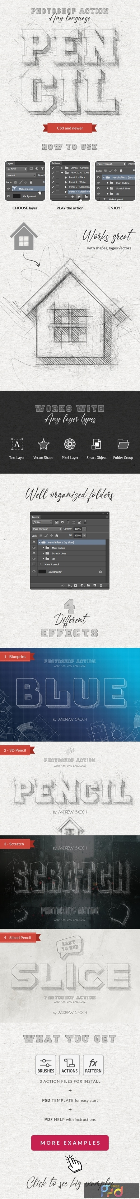 Pencil Sketch - Photoshop Action 25488367 1