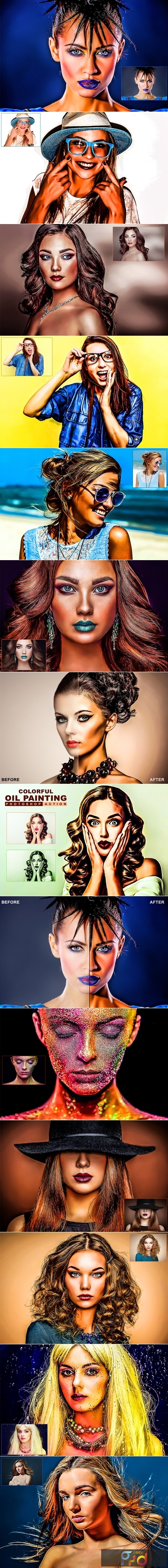 Colorful Oil Painting Photoshop Action 3177435 1