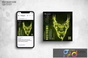Nostromo Party Square Flyer & Social Media Post 3HC29ZJ 4