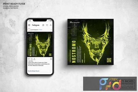 Nostromo Party Square Flyer & Social Media Post 3HC29ZJ 1
