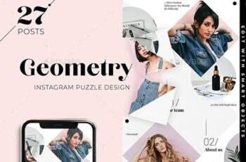 Geometry Instagram Puzzle Template for Bloggers and store 25629887 1