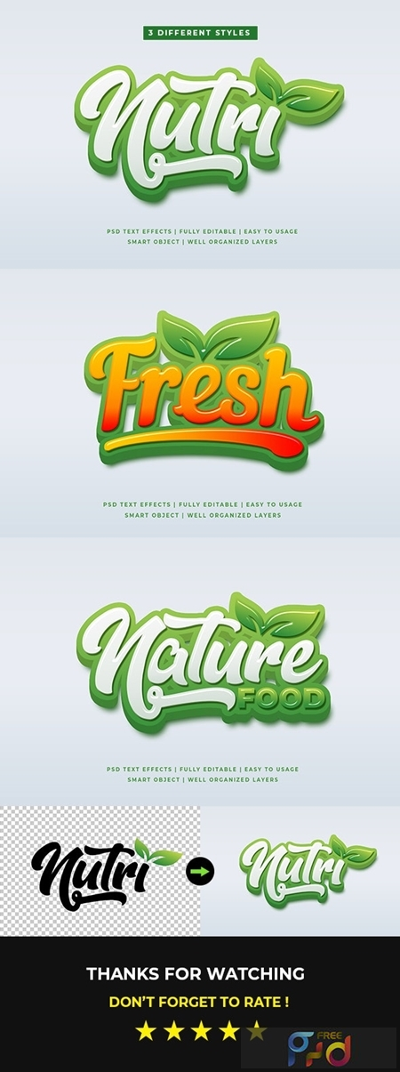 Green Natural 3D Text Style Effects Mockup 25632927 1