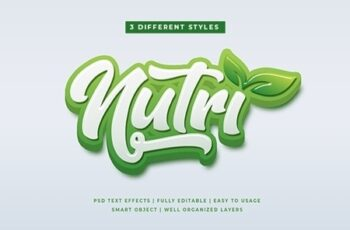 Green Natural 3D Text Style Effects Mockup 25632927 3