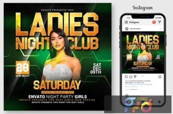 Ladies Night Club Flyer Template 4543728 8