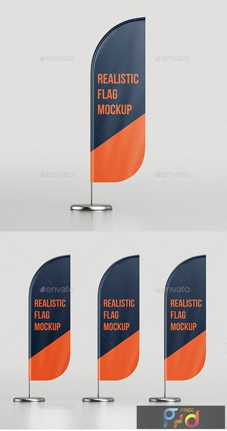 Realistic Flag Mockup 25624980 1
