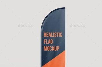 Realistic Flag Mockup 25624980 4