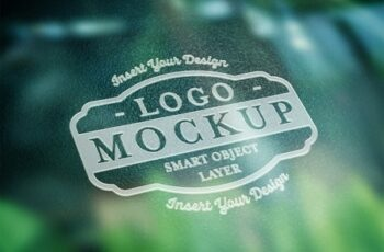 Textured White Logo Mockup with Reflective Surface Element 322108751 2