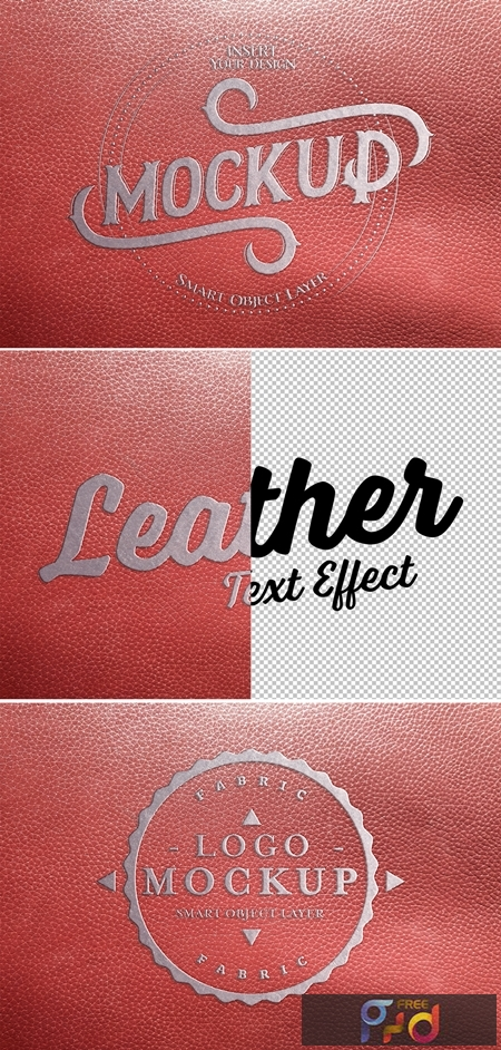 Metal-Embossed Red Leather Text Effect 322108674 1