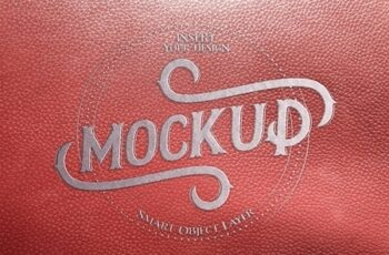 Metal-Embossed Red Leather Text Effect 322108674 3