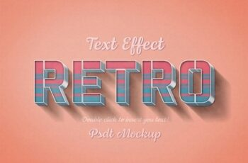 Retro 3D Text Effect with Pink and Blue Stripes 322108770 9